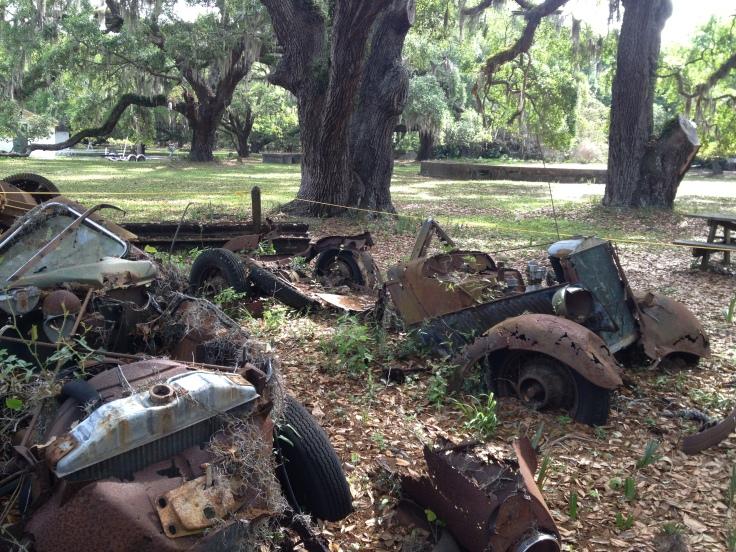 Rusting Carnegie Cars - Cumberland Island, GA