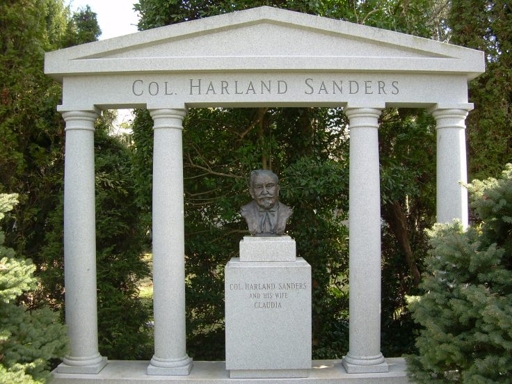 Grave of Col. Sanders - Cave Hill Cemetery, Louisville, KY