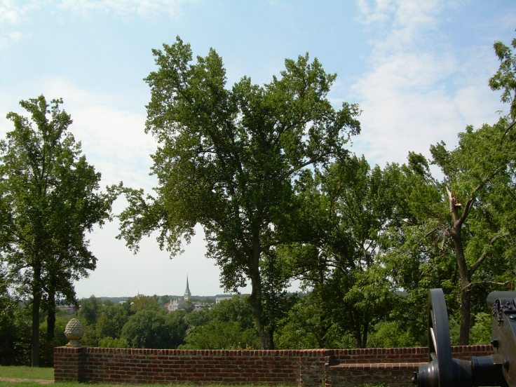 Backyard of Chatham Manor - Fredericksburg, VA