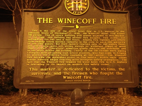 Winecoff Plaque