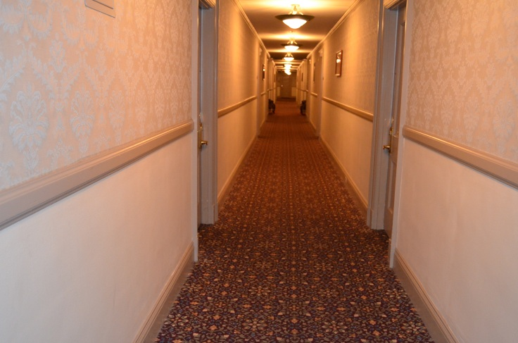 "The endless hallway, where Stephen King roamed and was inspired to write ""The Shining."""
