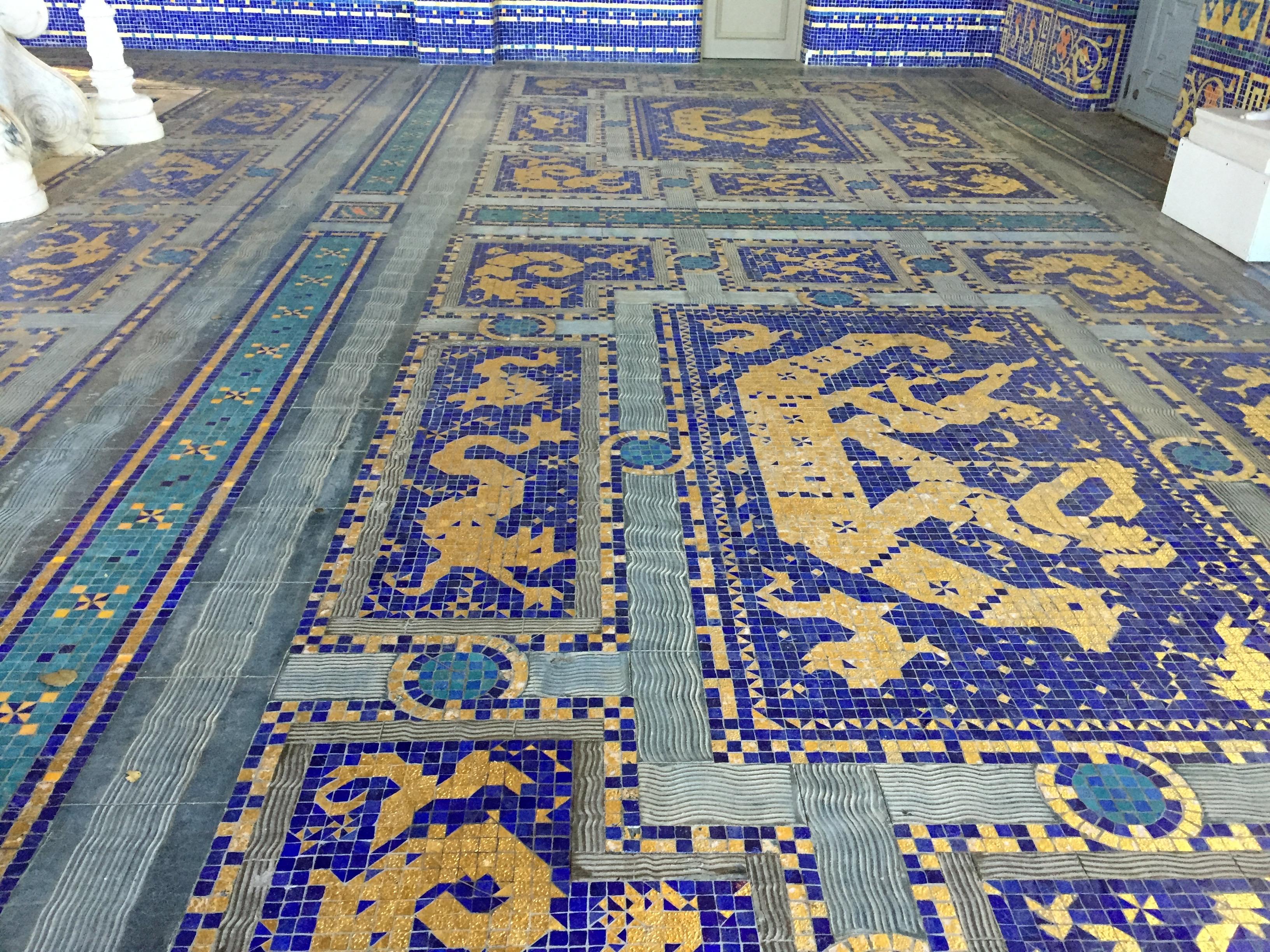 Roman Pool Entry Floor Tiles Jamie Davis Writes